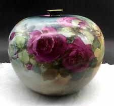 New ListingAntique Elite Limoges Large Hand Painted Roses Vase