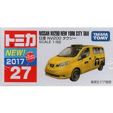 Takara Tomy Tomica #27 Nissan NV200 NEW YORK CITY TAXI 1/62 JAPAN Bubble