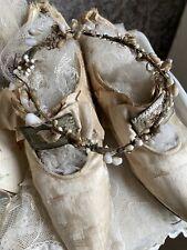 Antik Zierlicher Wachs Blütenkranz Bridal Crown Antique Shabby