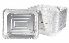 Aluminum Foil Pans - 50-Piece Half-Size Baking Tins, Deep Disposable Steam