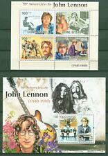 Guinea Bissau 2010 - John Lennon - The Beatles - Yoko Ono - 4925-28 + Block 827