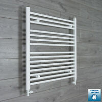 800 mm High 700 mm Wide Flat White Heated Towel Rail Radiator Bathroom Kitchen