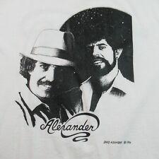 Vintage 80s David Alexander T Shirt 1986 Single Stitch Welsh Singer Entertainer