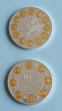 2 médailles 10 ans de l'Euro  / Malte
