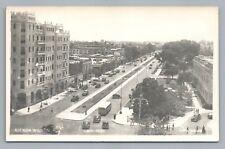 Avenida Wilson RPPC Lima Peru—Vintage Mobil Oil Service Station Photo Foto 1940s