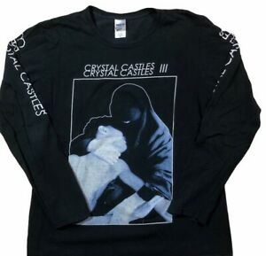 RARE 2013 Crystal Castles III Witch House Long-Sleeve Shirt Size M