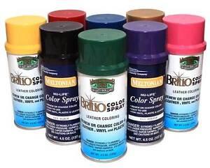 New Color Spray Leather Plastic Vinyl Paint/Dye 4.5 oz- All Colors