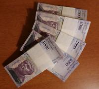 100 x Venezuela 1000 Bolivares, 2017 issue / UNC banknotes / currency bundle