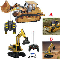 1:12 RC Excavator Shovel Remote Control Construction Bulldozer Truck Toy RC Car