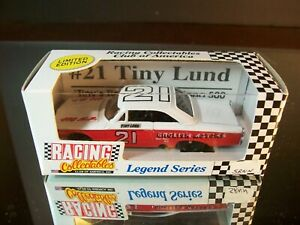 Tiny Lund #21 English Motors 1963 Ford Fastback RCCA 1:64 White Roof Numbers