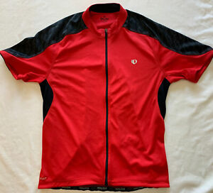 Pearl Izumi Red & Black Full Zip Cycling Shirt Size Large