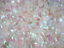 Sequins Cup 10mm Clear Transparent AB 20g Wedding Dancing Costumes FREE POSTAGE