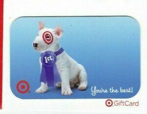 Target Gift Card Bullseye Dog 1st Place Ribbon - 2004 - No Value - On Backing