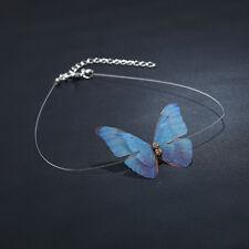 Women Simple Charm Gauze Butterfly Choker Collar Bib Necklace Fashion Jewelry