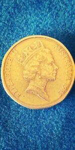 Australian error coin 1985 $1.00 coin