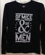 Of Mice & Men The Band Concert 2009 Long Sleeve Jersey T-shirt Black Large Euc