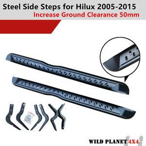 Side Steps for Toyota Hilux 05-11 N70 Running Boards Matte Black Powder Coated