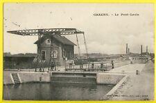 cpa 02 - CHAUNY en 1905 (Aisne) Le PONT LEVIS Ecluse Canal de SAINT QUENTIN