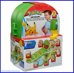 NEW Pokemon Fold Out Carry Case Backpack Playset with Pikachu Action Figure