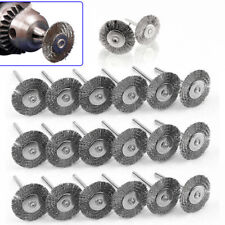 20pcs Stainless Steel Wire Wheel Brush Set For Drill Grinder Polishing Brush Kit