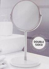 Beige Free Standing Pedestal magnifying Shaving/ Make Up Mirror