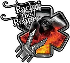 """Racing the Reaper Star of Life Crash Rescue Decal Real Fire 6"""" REFLECTIVE EMS01"""