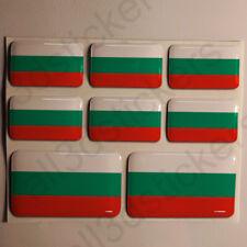 Sticker Bulgaria Resin Domed Stickers Bulgaria Flag 3D Vinyl Adhesive Decal Car