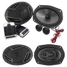 "Pair Rockville RV69.2C 6x9"" 1000w Component Car Speakers+(2) 6x9"" 4-Way Speakers"