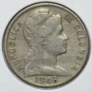 Colombia 1946 5 Centavos 902485 combine shipping