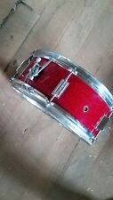Vintage Kent Snare Drum USA 14X5 red sparkle maple signed