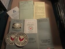 1949 AAA Automobile Club of Southern Indiana membership literature