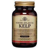 Solgar North Atlantic Kelp 250 Tablets FRESH Made In USA, FREE US SHIPPING