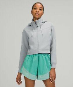 NEW Women Lululemon Rogue Renegade Zip Hoodie Luxtreme Rhino Grey  Size 4 & 8