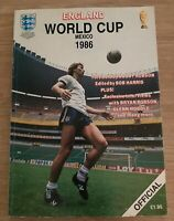 England World Cup Mexico 1986 Official Brochure