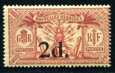 NOUVELLES HEBRIDES 1920 Yvert 69 * SELTENHEIT ohne WASSERZEICHEN 470€+(S4111