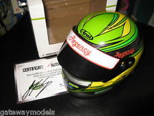 1:2 MINIHELMETS JAMES COURTNEY 2013 HELMET LTD ED OF 500 PERSONALLY  SIGNED COA