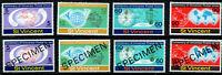 St Vincent - Sc #375-378 & 375-378 Ovpt SPECIMEN 1974 Centenary UPU - MNH