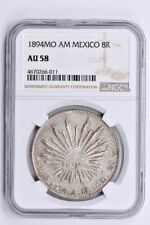 1894MO AM Mexico 8 Reales NGC AU 58 Witter Coin
