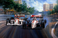 Mansell's Paradise Nigel Indycar debut Surfers Paradise print by Alan Fearnley