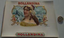 WHOLESALE LOT OF 24  LARGE  HOLLANDINA ANTIQUE CIGAR BOX  LABELS