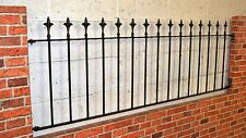 """18"""" REGENT STYLE  WROUGHT IRON METAL FENCING/RAILINGS PANEL"""