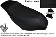 BLACK STITCH CUSTOM FITS MALAGUTI PHANTOM F12 100 DUAL LEATHER SEAT COVER