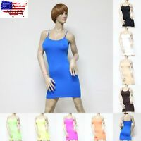 A Sexy Seamless Camisole Tank Top Camice Tee Shirt Basic Layer Solid Colors