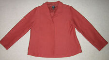 Eileen Fisher Womens Coral Wool Jacket /Blazer M Medium  Made In USA