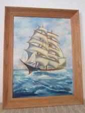Nautical Ship Oil Painting By N.Gardinier