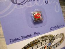 ESSENZA  ITALIAN CHARM - ZODIAC- LINKS TOGETHER MAKES A BRACELET - RED- TAURUS