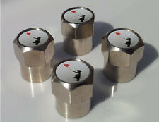 BANKSY Girl Globo Aluminio neumático válvula Tapas De Aleación Para Coche Llanta Rueda