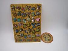 Pokemon Pocket Monster Shitajiki Pencil Board & Sticker Set B Showa Note Japan