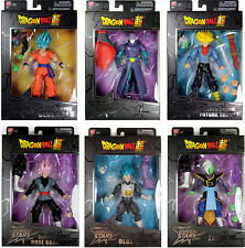 Dragon Stars Series 3 & 4 Action Figure Set ~ SSGSS Goku, Rose Goku, BAF Zamasu+