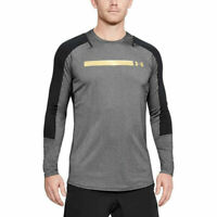 Under Armour UA HeatGear Perpetual Mens Long Sleeved Grey Sports Fitted Top
